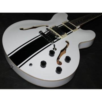 Custom Tom Delonge ES-333 White Electric Guitar