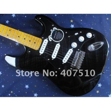 Custom Stratocaster 6 String Black Electric Guitar