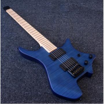 Custom Strandberg Boden 6 String Ocean Blue Color Headless Electric Guitar