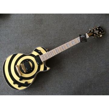 Custom Shop Zakk Wylde Bullseyes Vintage Yellow Electric Guitar Maple Fretboard