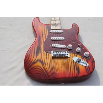 Custom Shop White Ash Wood Body Orford Cedar Strat Cherry Burst Electric Guitar