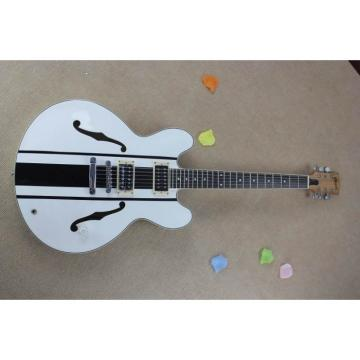 Custom Shop Tom Delonge ES-333 White Electric Guitar