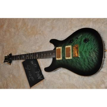 Custom Shop Tiger Green Maple Top PRS 6 String Electric Guitar