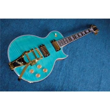 Custom Shop Teal Quilted Maple Top Electric Guitar Bigsby Tremolo