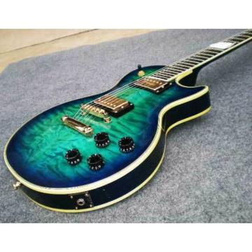 Custom Shop Teal Quilted Maple Top Electric Guitar
