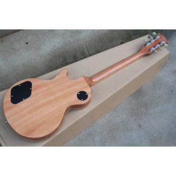 Custom Shop Teal Flame Maple Top LP P90 Electric Guitar