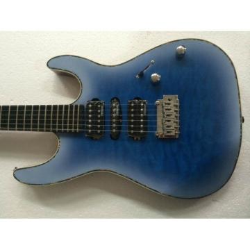 Custom Shop Suhr Quilt Maple Top Transparent Natural Fade Blue Burst Electric Guitar