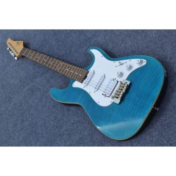 Custom Shop Suhr Flame Maple Top Ocean Blue Electric Guitar