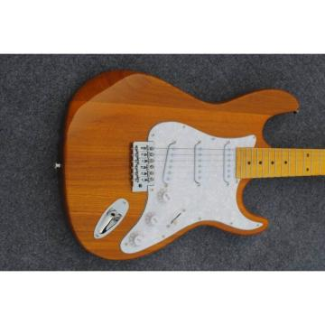Custom Shop Stratocaster Natural Wood Grain Electric Guitar