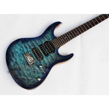 Custom Shop Suhr Flame Maple Top Blue Electric Guitar