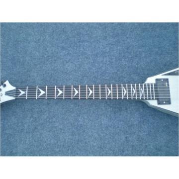 Custom Shop Silver Flying V Electric Guitar