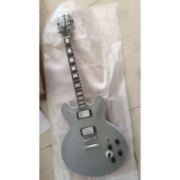 Custom Shop Silver Dust Gray BB King Lucille White Electric Guitar