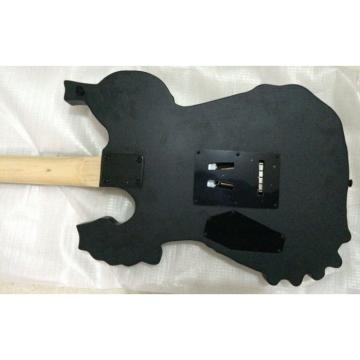 Custom Shop Skull Dark Emo Carved Electric Guitar