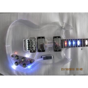 Custom Shop SGT Acrylic Plexiglass Transparent Electric Guitar