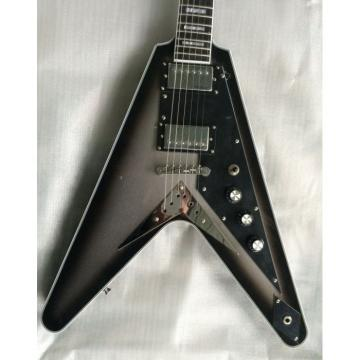 Custom Shop Silverburst Chrome Hardware LP Flying V Electric Guitar