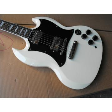 Custom Shop SG White Finish Electric Guitar