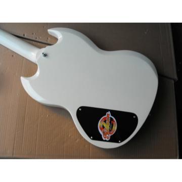 Custom Shop SG White Finish Electric Guitar