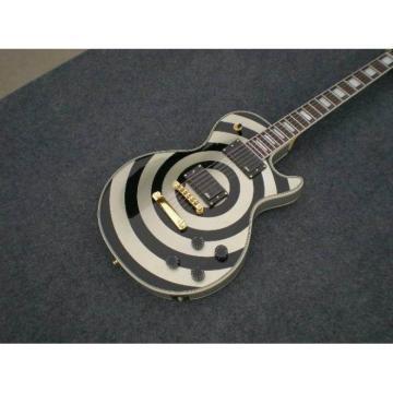 Custom Shop Silver Zakk Wylde Bullseyes Electric Guitar