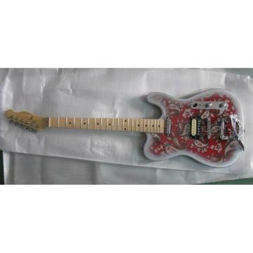 Custom Shop Silver Red 1969 Reissue Paisley Telecaster Electric Guitar Floral