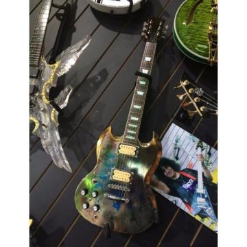Custom Shop SG Relic LED Light Fretboard Electric Guitar Left Handed