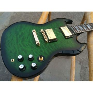 Custom Shop SG Green Burst Quilted Maple Electric Guitar