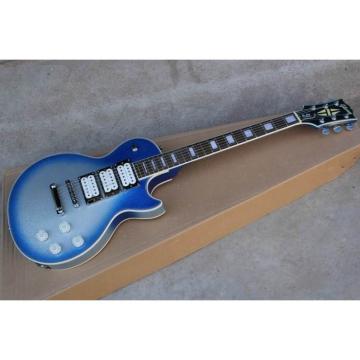 Custom Shop Robot White Blue LP Electric Guitar