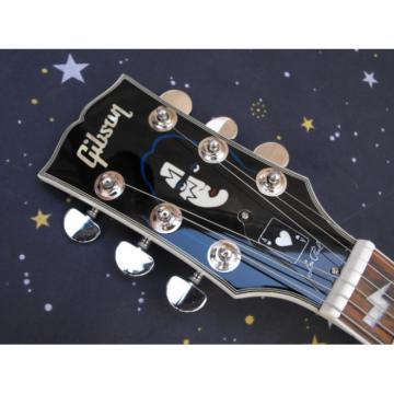 Custom Shop Ace Frehley Robot Silver Blue LP Electric Guitar
