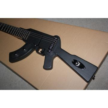 Custom Shop Rifle Machine Gun BC Rich Black 6 String Electric Guitar