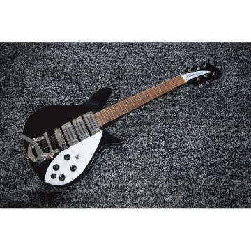 Custom Shop Rickenbacker 325 Jetglo Black 6 String Electric Guitar