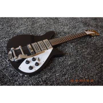 Custom Shop Rickenbacker 325 Black Electric Guitar Bigsby