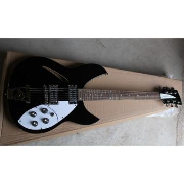 Custom Shop Rickenbacker 330 Black Electric Guitar