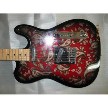 Custom Shop Red Burst 1969 Reissue Paisley Telecaster Electric Guitar Floral