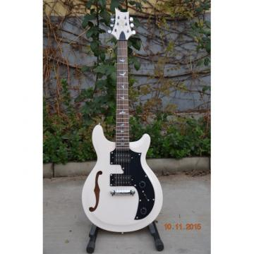 Custom Shop PRS S2 Mira Arctic White Semi Hollow Fhole Electric Guitar