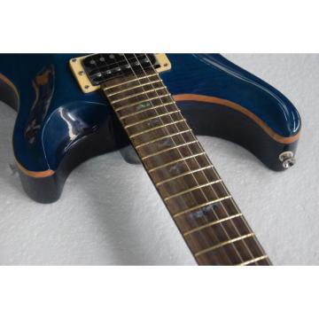 Custom Shop PRS Custom 24 Frets 10 Top Flame Whale Blue Electric Guitar