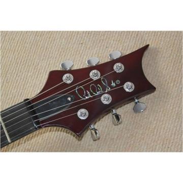 Custom Shop PRS Burgundy Flame Maple Top 24 Frets Electric Guitar