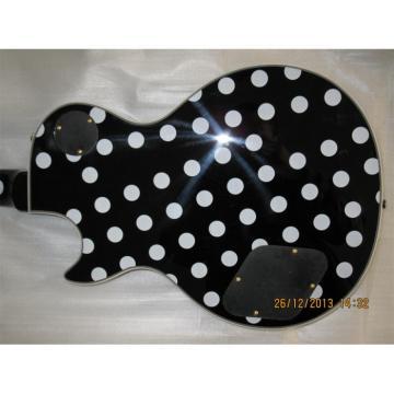 Custom Shop Polka Dots LP Black White Electric Guitar