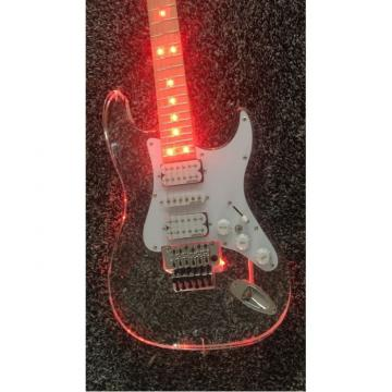 Custom Shop Plexiglass Red LED Acrylic Stratocaster Electric Guitar