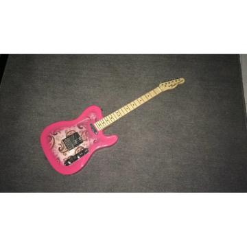 Custom Shop Pink 1969 Reissue Paisley Telecaster Electric Guitar Floral