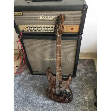 Custom Shop Orford Cedar Stratocaster Zebra Body and Neck Electric Guitar