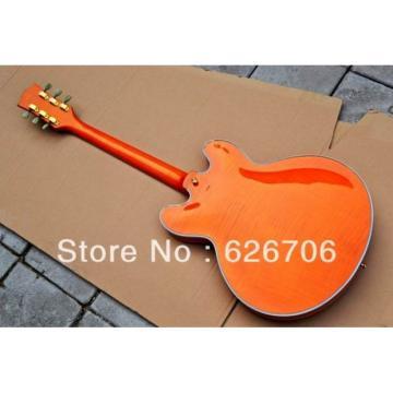 Custom Shop Orange 335 Semi Hollow Jazz Electric Guitar