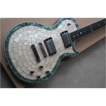 Custom Shop Mother of Pearl Inlay Abalone Electric Guitar MOP