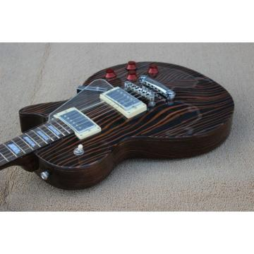 Custom Shop LP Zebra Wood Electric Guitar