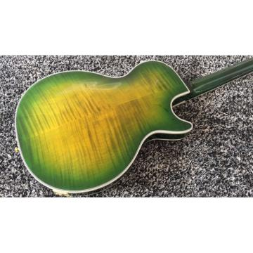 Custom Shop LP Supreme Yellow Green Burst Tiger Maple Top Electric Guitar