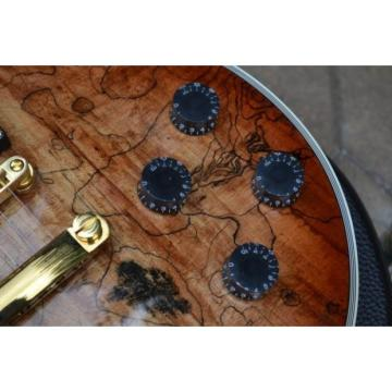 Custom Shop LP Spalted Maple Satin Dead Wood Electric Guitar