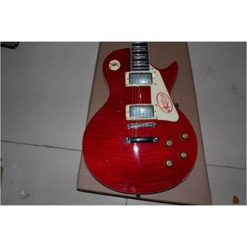 Custom Shop LP Slash Flame Maple Top Red Electric Guitar