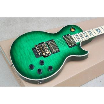 Custom Shop LP Quilted Maple Top Green Abalone Inlays Electric Guitar