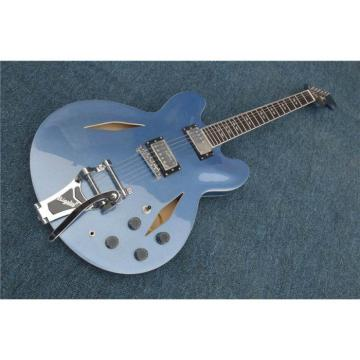 Custom Shop LP Dave Grohl Pelham Blue DG335 Electric Guitar Authorized Bigsby