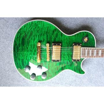 Custom Shop LP Flame Maple Top Green Electric Guitar
