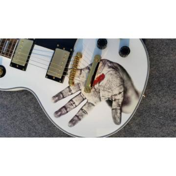 Custom Shop LP Hands On White Electric Guitar