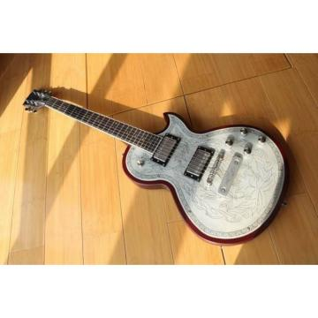 Custom Shop LP Engraved Aluminum Top Electric Guitar